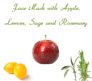 Homemade Face Mask for Oily Skin with Apple, Lemon, Sage and Rosemary