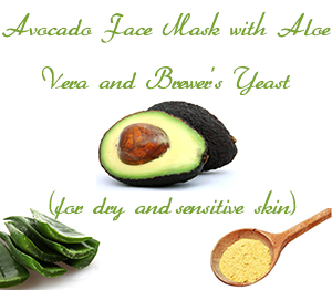 Avocado Face Mask with Aloe Vera and Brewer's Yeast