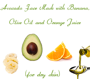 Avocado Face Mask with Banana, Olive Oil and Orange Juice