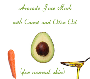 Avocado Face Mask with Carrot and Olive Oil