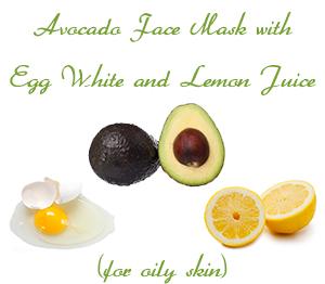 Avocado Face Mask with Egg White and Lemon Juice