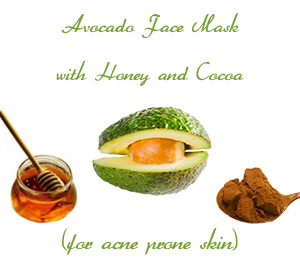 Avocado Face Mask with Honey and Cocoa