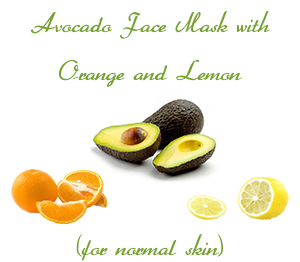 Avocado Face Mask with Orange and Lemon