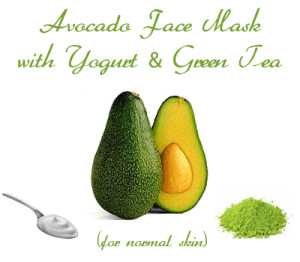 Avocado Face Mask with Yogurt and Green Tea