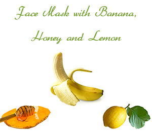Homemade Face Mask For Oily Skin with Banana, Honey and Lemon